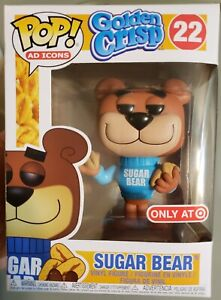 "SUGAR BEAR ""Golden Crisp"" Funko POP! Ad ICONS #22 Target Exclusive"