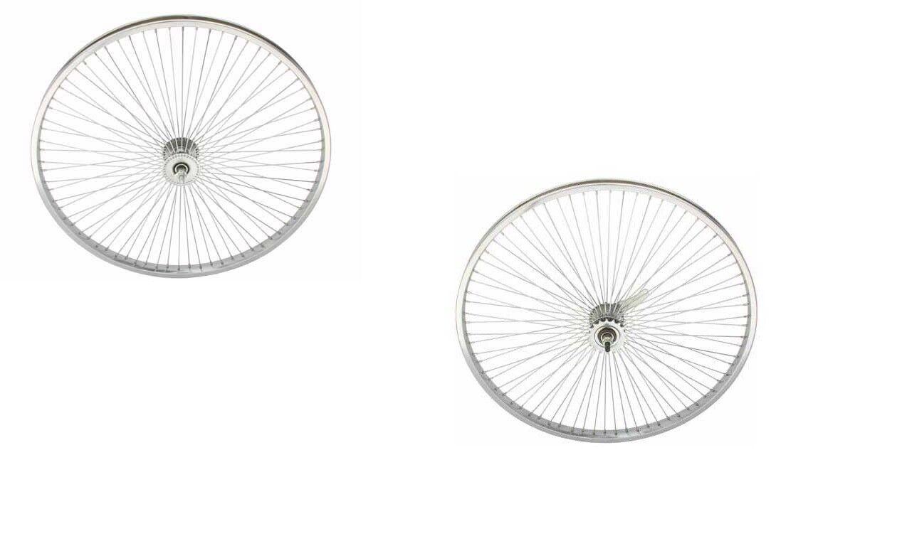 26  Alloy Bicycle Wheelset 68 Spokes Coaster Brake Cruiser Lowrider Bikes
