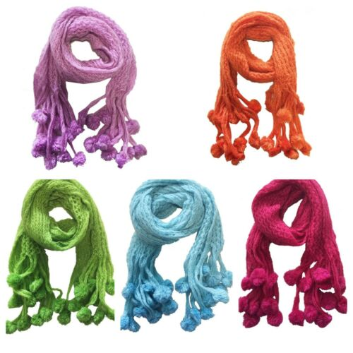 Warm Winter Scarf High Quality /&Luxury Thick Knitted with Bubble-ladies//Girls
