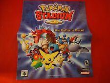 Pokemon Stadium 2 64 N64 Wal-Mart Promotional Ad Deals Flyer Nintendo Promo