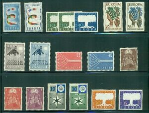 EUROPA-1957-Complete-Yearset-NH-8-countries