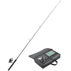 Travel-Fishing-Pole-Kit-Combo-Pack-Spinning-Reel-6-039-Rod-Case-amp-Mini-Tackle-Box