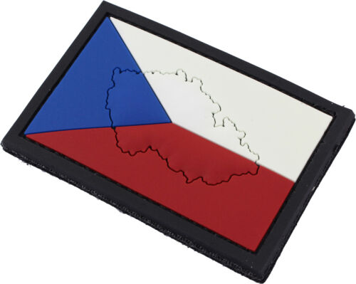PVC Czech Republic Flag Patch Czech Country Flag Hook and Loop Badge