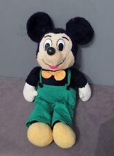 Disney Grande Peluche Vintage MICKEY en Salopette Verte   ( Haut: 55 cm )