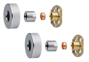 Thermostatic-Shower-Bar-Mixer-Valve-3-4-034-Round-Brass-Fast-Easy-Fit-Fixing-Kit