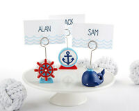 6 Nautical Whale Anchor Ship Place Card Holders Baby Shower Decorations Q36438
