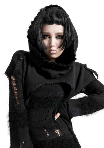Poncho kurz Cape Schal Kapuze Gothic lolita Mode Japan Stickerei Winter PunkRave