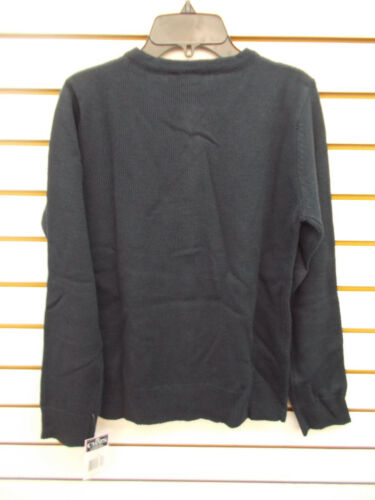 Girls Chaps $32 White or Navy Button Close Uniform Sweater Size S 7 -XL 16