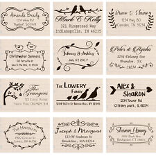 black ink custom self inking return address stamp personalized