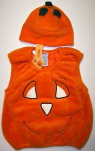 4c897aa7fa3 Details about NWT 0 6 m 2pc VINTAGE Gymboree fleece pumpkin costume hat  glow in the dark htf