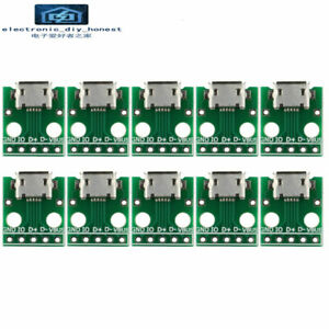 10-20pcs-Micro-USB-to-DIP-2-54mm-Adapter-Connector-Module-Board-Panel-Female-5P