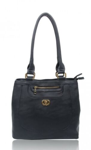 Women Ladies Fashion Designer Faux Leather Handbag Tote Shoulder Reversible Bag