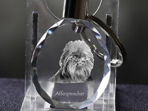 100% De Qualité Affenpinscher, Porte-clés Rond, En Cristal, Qualité, Crystal Animals Fr