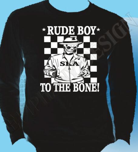 Rude Boy T-Shirt Skinhead Long Sleeve Ska 2tone The Specials Madness Mod 2 Tone