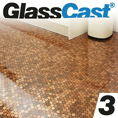 Glasscast 3 Clear Epoxy Penny Floor Resin Tabletop Bar Top Epoxy Glass Cast Ebay