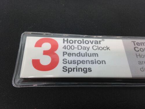 Kundo 12 Tall 400 Day Clock Horolovar .0032 Suspension Spring 3 Piece Pack