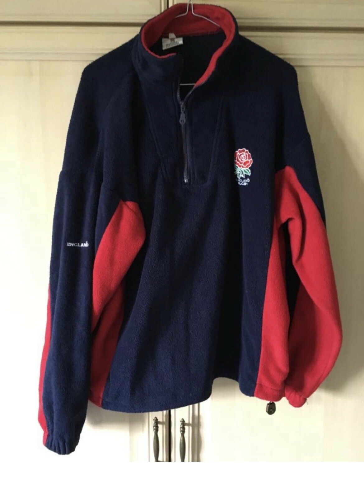 Rugby Store England Navy Red Fleece Ladies 12 14 16 Rose