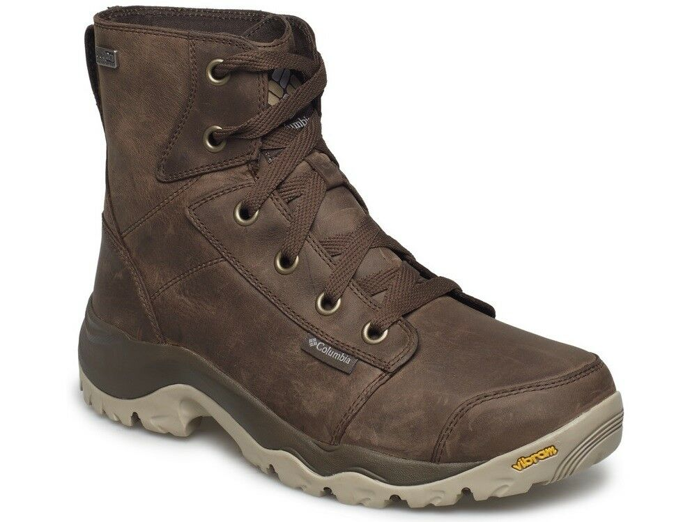 COLUMBIA Camden Cuero Chukka 1831611231 Vibram impermeable Zapatos botas Para Hombres Nuevo