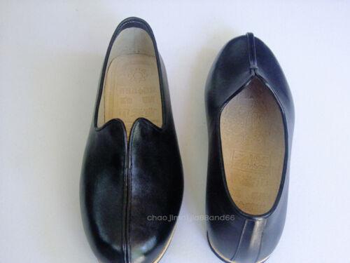 Handmade Genuine Leather Martial arts Wushu Wingchun Shaolin Kung Fu Shoes Black