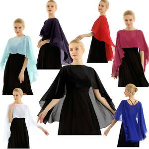 Women-Chiffon-Sheer-Bolero-Shrug-Cardigan-Cropped-Top-Party-Beach-Cover-Up-Wraps