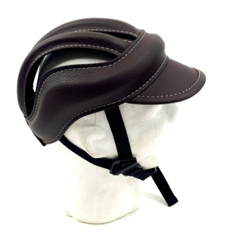 58-61 cm,Brown M-Wave Retro Old School Vintage Bicycle Cycling Crash Cap//Helmet