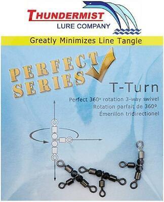 Thundermist Lure Company T-Turn 3-Way Swivel 85 lb Rating Tangle Free