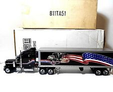 Franklin Mint  ''Peterbilt Model 379 & Refrigerated Box Trailer'  Die-Cast  1/32