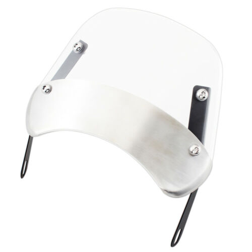 "Motorcycle Windscreen Black//Clear//Smoke Windshield Universal For 5-7/"" Headlights"