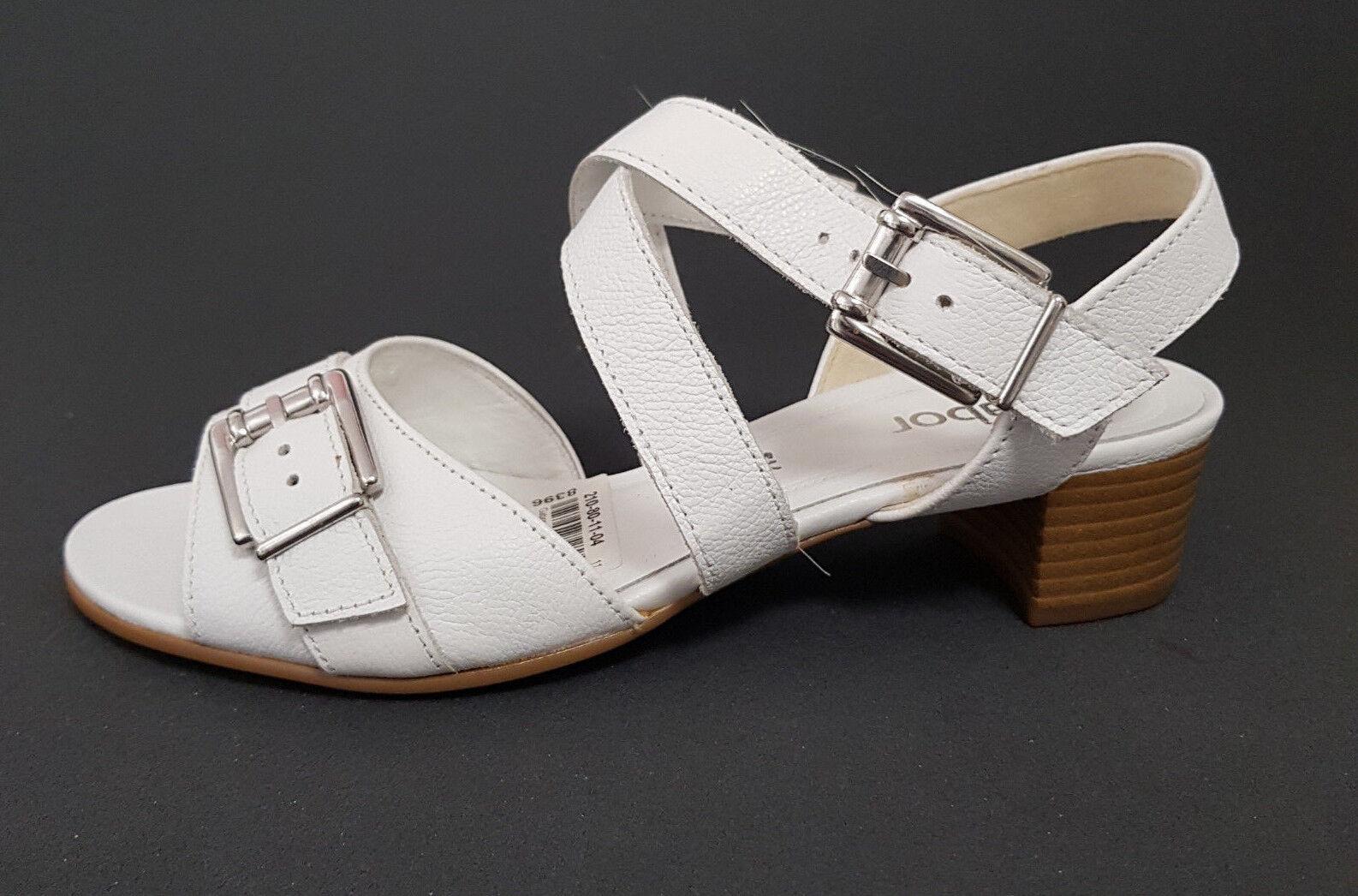 NEU   Gabor schuhe Sandale Pantolette elegante Sandalette Weiß  Leder rotUZIERT