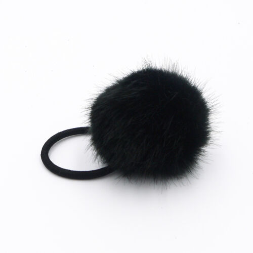 9 Colors 6cm Women Girls Soft Furry Hair Ties Ball Rope Pompom Hair Holder Clip