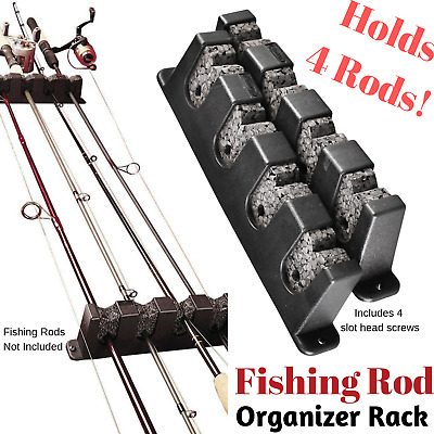Boat Rod Rack Horizontal Vertical Fishing Wall Mount Storage Rack Holder Pole