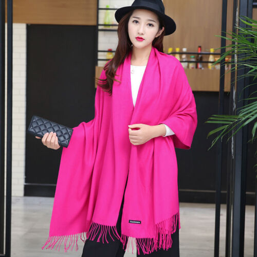 New Thick Warm Winter Scarves Femme Pashmina Kerchief Wool Stole Neck Long