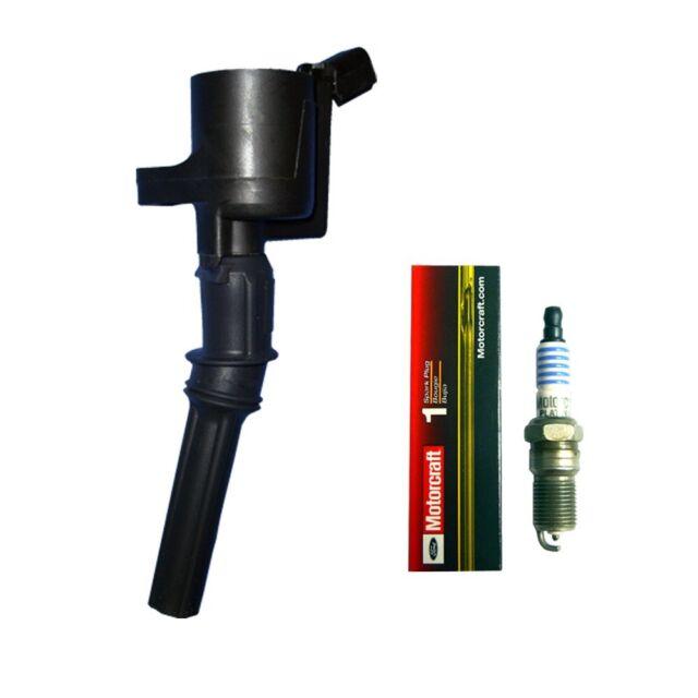 New Ignition Coil (1) + (1) Motorcraft Spark Plug For 1999 ...