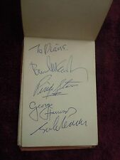 The Beatles 1963/64 Immaculate Set Of Signatures In Autograph Book Granada TV
