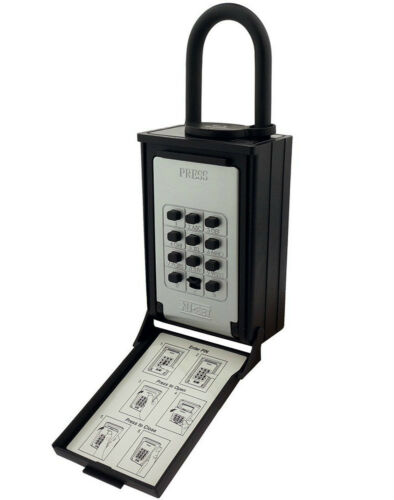 Key//Card Storage Push Button Lockbox NU-SET Combo Locking Shackle