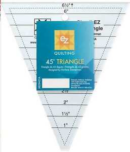 Ez Quilting 45 176 Triangle Ruler Ebay