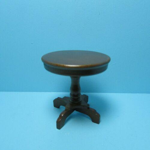 Dollhouse Miniature Living Room Pedestal Side Table in Walnut ~ T6682 CLA10491