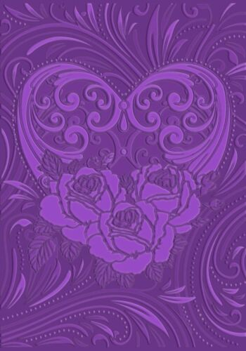 """CRAFTERS COMPANION 3D EMBOSSING Folder LOVE BLOSSOMS 5 x 7/""""  EF5-3D-LBLO"""
