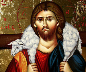 jesus christus gute hirte ikone icon good shepherd ikona ikonen orthodox icoon | ebay