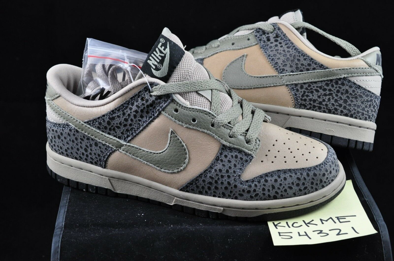 2004 NIKE DUNK LOW SAFARI SIZE 6 ANIMAL BEAST ATMOS MITA CO.JP BRAND NEW RARE