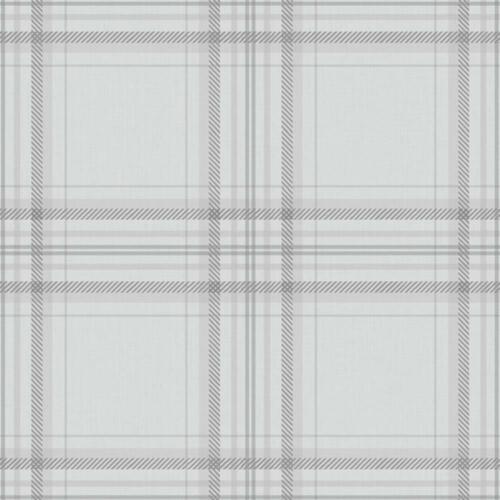 Chèque Papier Peint Carreaux Écossais Tartan à damiers doublé gris anthracite HOLDEN DECOR