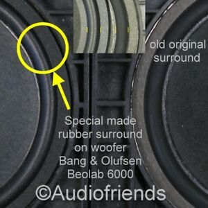 8x-Rubber-surrounds-for-speaker-repair-Bang-Olufsen-Beolab-6000-type-8480239