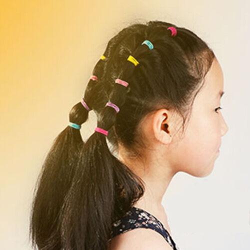 100er Set Kinder Mädchen Harrgummi Elastisches Babys Gummibänder Haarschmuck