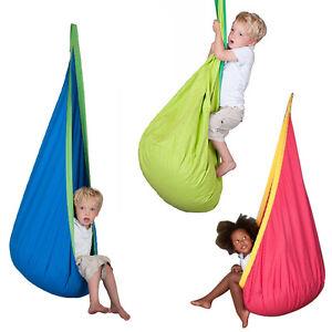 Image is loading Kids-Baby-Pod-Swing-Hammock-Chair-Outdoor-Indoor-  sc 1 st  eBay & Kids Baby Pod Swing Hammock Chair Outdoor Indoor Garden Home Tent ...