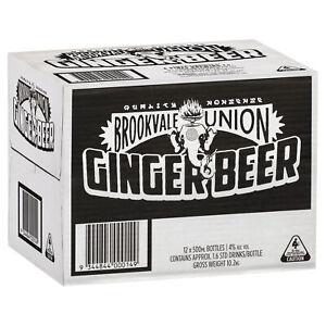 Brookvale Union Ginger Beer Case 12 x 500mL Bottles