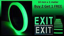 Glow In The Dark Tape Photoluminescent Egress Multi-purpose Tape 10 mm x 1 meter