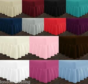Extra Deep Percale Frill Valance Fitted Bed Sheets Single ...