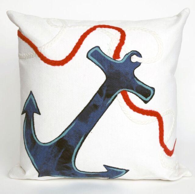Indoor Outdoor Anchor Pillows Liora, Outdoor Anchor Pillow