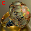 Turkish-Vintage-Jewelry-18K-Black-Gold-Multi-Color-Gemstone-Ring-Wedding-Sz-6-10 miniature 11