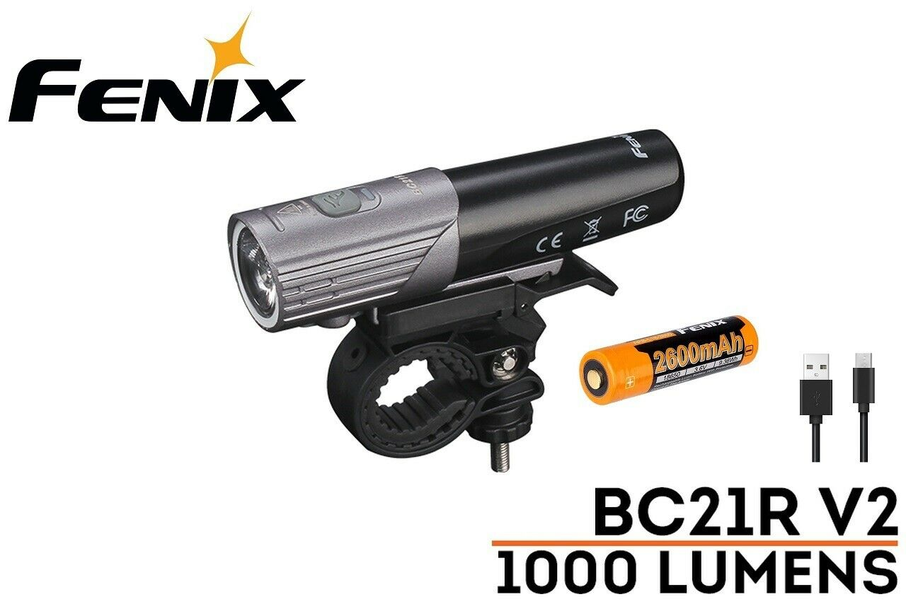nuovo Fenix BC21R V2.0 USB Cree 1000 Luuomini LED bicicletta bicicletta Light With Battery